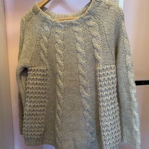 Zara cable knit wool blend sweater M